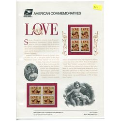 BLOCK OF 4 STAMPS (U.S.A) NO 457 *LOVE 1995*