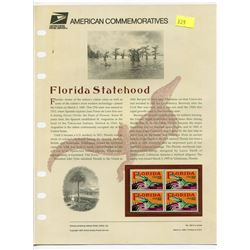 BLOCK OF 4 STAMPS (U.S.A) NO 453 *FLORIDA STATEHOOD 1995*