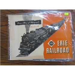 PHOTO ALBUM (STEAM LOCOMOTIVES) 'ERIE RAILROAD NO. 14'