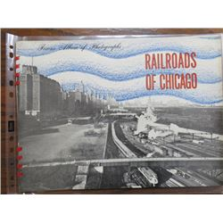 PHOTO ALBUM (STEAM LOCOMOTIVES) 'CHICAGO RAILROADS'