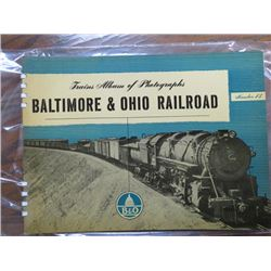 TRAIN PHOTO ALBUMS OF BALTIMORE & OHIO RAILROAD NO. 13