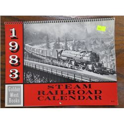 CALENDAR (STEAM RAILROAD) *1983*