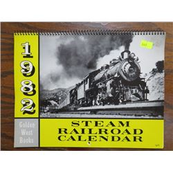 CALENDAR (STEAM RAILROAD) *1982*