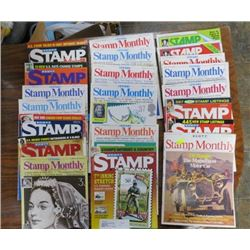 BOX OF MONTHLY MAGAZINES (STANLEY GIBBONS, SCOTT'S MONTHLY, CANADA POST DETAILS) *OVER 50*