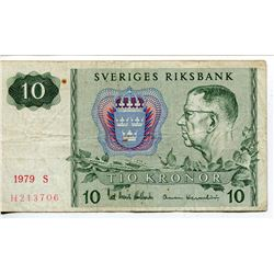 10 KRONOR BANK NOTE (SWEDEN) *1979*
