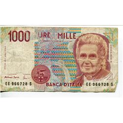 BANK NOTE (ITALY) *1000 LIRE*