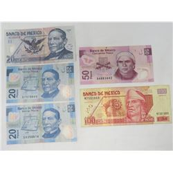 3 PESOS (MEXICO) *20, 50 & 100* (VALUE $40+)