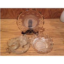 LOT OF 5 GOLD RIM DISHES *NO CHIPS*