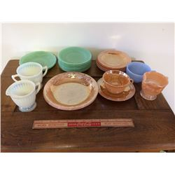 LOT OF DISHES, (ASST'D SIZES, COLORS)
