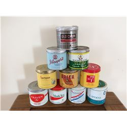 LOT OF 10 TOBACCO TINS (SPORTSMAN, CAMEO, PLAYERS, ETC)