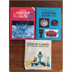 3 BOOKS (DEPRESSION, CARNIVAL AND CNDN GLASS)