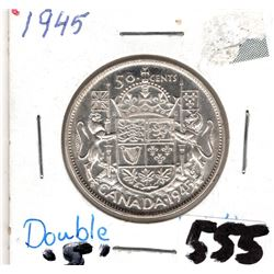 1945 CNDN 50 CENTS PC (NEAR DATE DOUBLE 5)