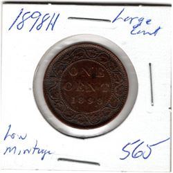 1888 H CNDN LARGE 1 CENT PC *DOUBLING ERROR* (LOW MINTAGE)
