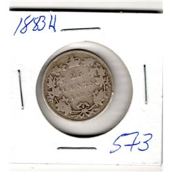 1883 CNDN 25 CENT PC (SILVER)