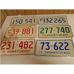 1970s LICENCE PLATE LOT