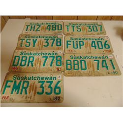 1980 AND NEWER LICENCE PLATES (W/DIFFERENT DATE STICKERS)