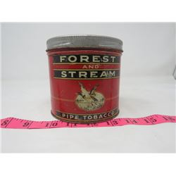 PIPE TOBACCO TIN (FOREST & STREAM)