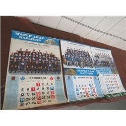 CALENDARS (TORONTO MAPLE LEAFS) *1968/69, 1970/71, 1971/72* (QTY 3)