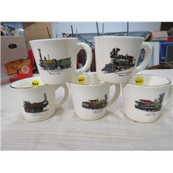 LOT OF COFFEE CUPS (TRAINS) 'CENTENNIAL SERIES' * QTY 5*