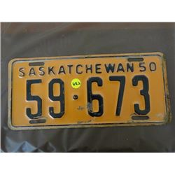 LICENSE PLATES (SASKATCHEWAN) *QTY 1* (1950)