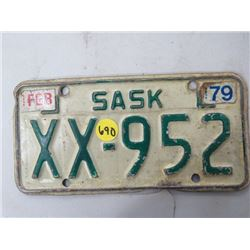 LICENSE PLATES (SASKATCHEWAN) *QTY 1* (1979 MOTORBIKE)