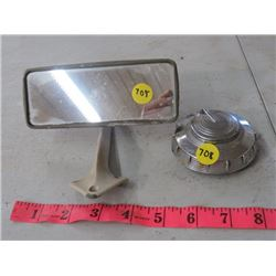 AUTOMOTIVE REAR VIEW MIRROR & GAS CAP