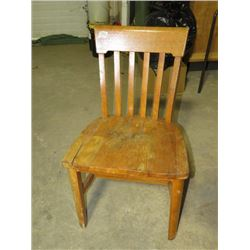 "WOODEN CHAIR (RCAF) *MISSING CASTORS 31""H*"