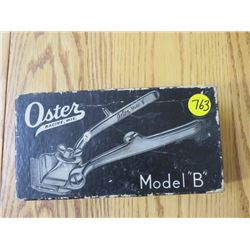 HAIR CLIPPER 'MODEL B'  (OSTER) *W/REPLACEMENT BLADES, OILER & GREASE*