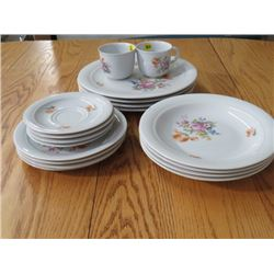 LOT OF DISHES, CUPS, SAUCERS *INCOMPLETE* (KAHLA, GERMAN DEMOCRATIC REPUBLIC)