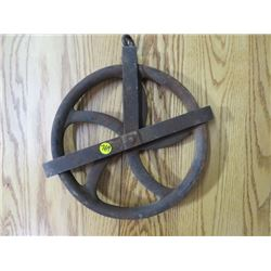 "WELL PULLEY (NICE SHAPE) *11""*"