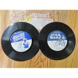 "2 RECORDS (33 1/3) ""EMPIRE STRICKES BACK"" & ""STAR WARS"""
