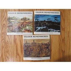 3 BOOKLETS (VALOR REMEMBERED) *WWI, WWII, KOREA)