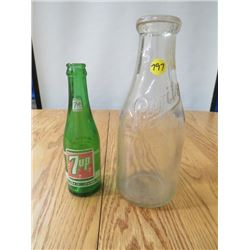 2 BOTTLES (PURITY AND 7-UP)