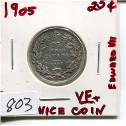 1905 CNDN 25 CENT PC (SILVER)