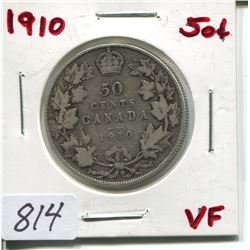 1910 CNDN 50 CENT PC (SILVER)