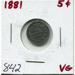 1881 CNDN 5 CENT PC (SILVER)