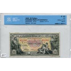 1935 CNDN 20 DOLLAR NOTE (CCCS CERTIFIED) *AIRD LOGAN*