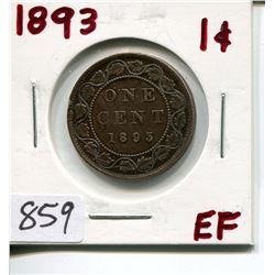 1893 CNDN LARGE 1 CENT PC