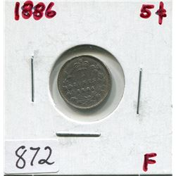 1886 CNDN 5 CENT PC (SILVER)