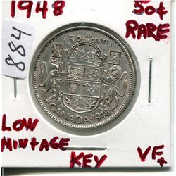1948 CNDN 50 CENT PC *LOW MINTAGE* (SILVER)