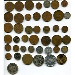 LOT OF VARIOUS COINS *QUANTITY 43*