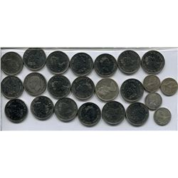 LOT OF CNDN COINS (25 CENT PCS & 10 CENT PCS) *QUANTITY 23*