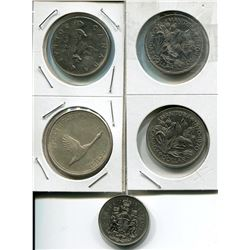 LOT OF CNDN COINS (SILVER DOOLARS & 50 CENT PC) *QUANTITY 5*