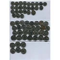 LOT OF USA COINS (25, 10 & 5 CENT PCS) *QUANTITY 62*