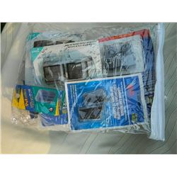 ASSORTED BAG OF AQUARIUM FILTER CARTRIDGES - ~12 PC / BG