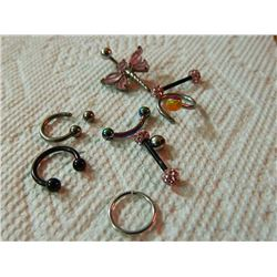 BAG OF ASSORTED JEWELRY - BODY JEWELRY
