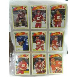 HOCKEY CARDS - SHEET OF 9 - CALGARY FLAMES