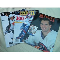 HOCKEY MAGAZINES - 3TTL  - BECKETT HOCKEY MONTHLY (DEC. '93 & DEC. '95) & BLAZE '97