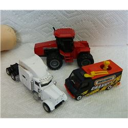 METAL TOYS - CASE INTERNATIONAL 9250 & MATCH BOX CHANNEL VAN & SEMI TRAILERS