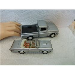 METAL TOYS - PICK-UP TRUCK & 1966 PONTIAC GTO